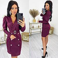 Женское платье-пиджак из креп костюмки