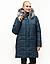 Пуховики зимние женские большого размера  54-70 марсал мех, фото 4