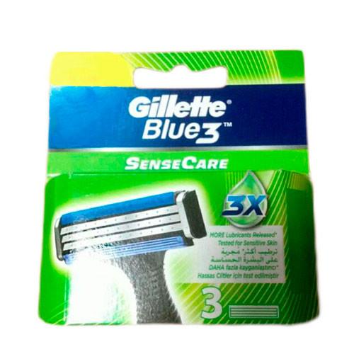Gillette Blue 3 SenseCare сменные картриджи 3 шт в упаковке