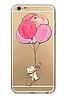 Силиконовый чехол кот на шаре для iphone 6/6S