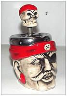 """Бездымная пепельница """"Пират и череп в бандане"""""""