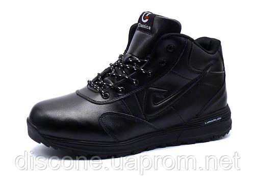 Кроссовки зимние Classica, мужские черные, на меху