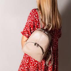 Рюкзак бежевый кожаный женский. цвет кожи можно любой. Производитель Украина