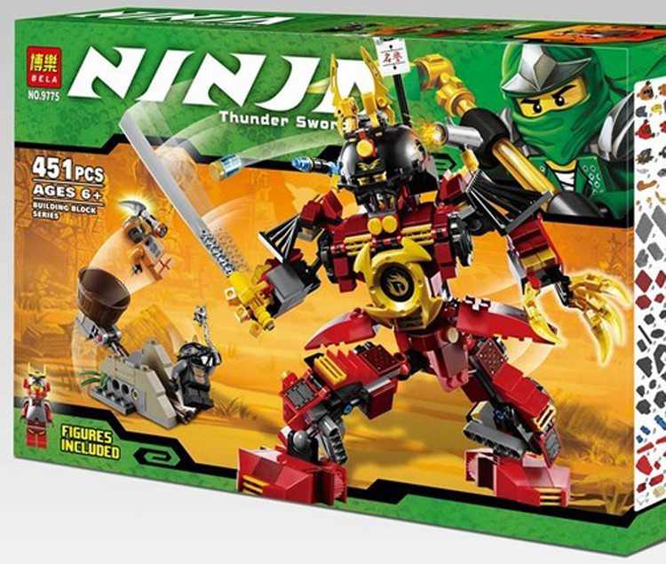 Конструктор Ninjago Bela 9775 Механический самурай 451 деталей