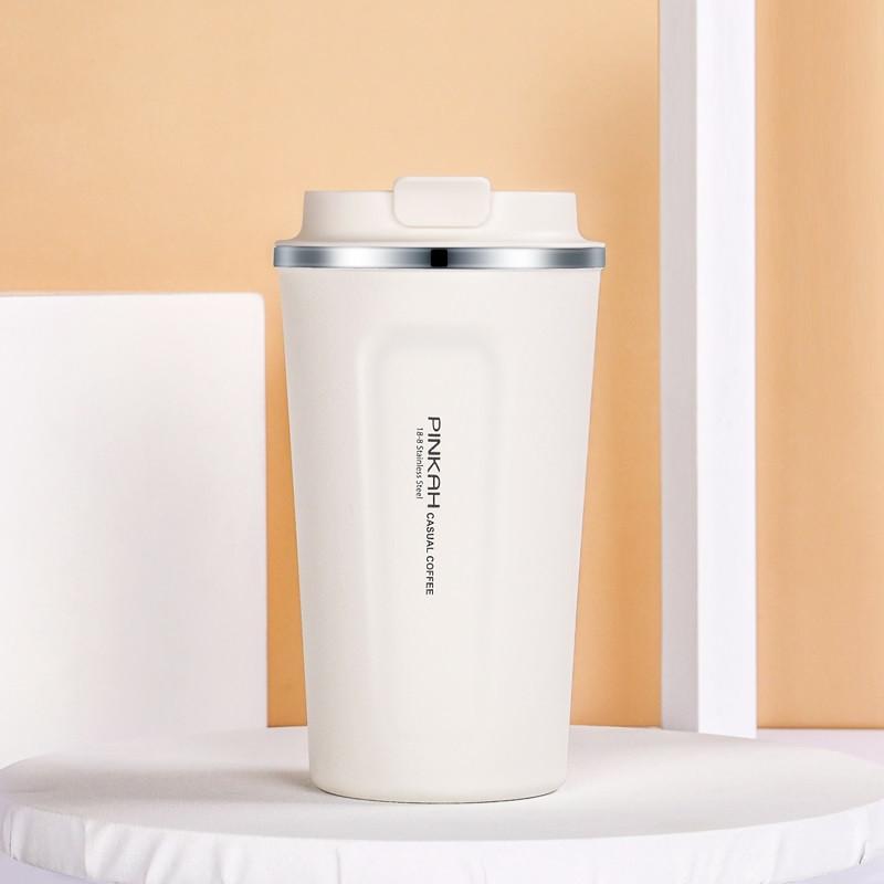 Термокружка Pinkah Coffe Cup белая 510 мл