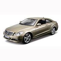 Автомодель - Mercedes-Benz E-Class Coupe (Золотой Металлик, Серебристый Металлик, 1:32) 18-43027