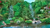 Фотообои, Водопад Гармония 20 листов, 196х350 см