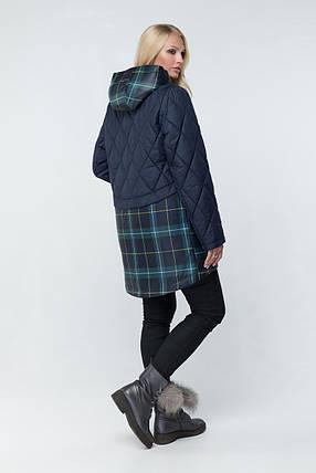 Стильна жіноча демісезонна куртка з капюшоном Розміри 48-64, фото 2