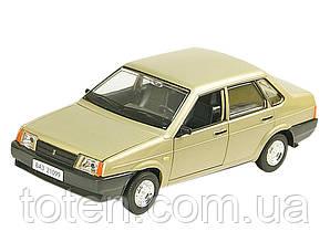 Машина ВАЗ 21099 метал колекційна Автопром. Інерція, об двері, капот, багажн, звук мотор Золота