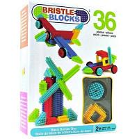 Конструктор бристл Строитель 36 деталей в коробке Bristle Blocks 3099Z