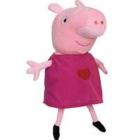 Мягкая игрушка Peppa Пеппа с вышитым сердцем 30 см 25096