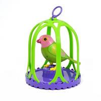 Игровой набор с интерактивной птичкой DigiBirds МАРГАРИТКА в большой клетке со свистком 88024-4