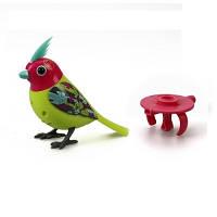 Интерактивная птичка DigiBirds третьего поколения Неон со свистком 88292