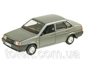 Машина ВАЗ 21099 метал колекційна Автопром. Інерція, об двері, капот, багажн, звук мотор Сіра