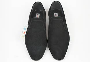 Туфли мужские замшевые Conhpol 2314 черные, фото 3