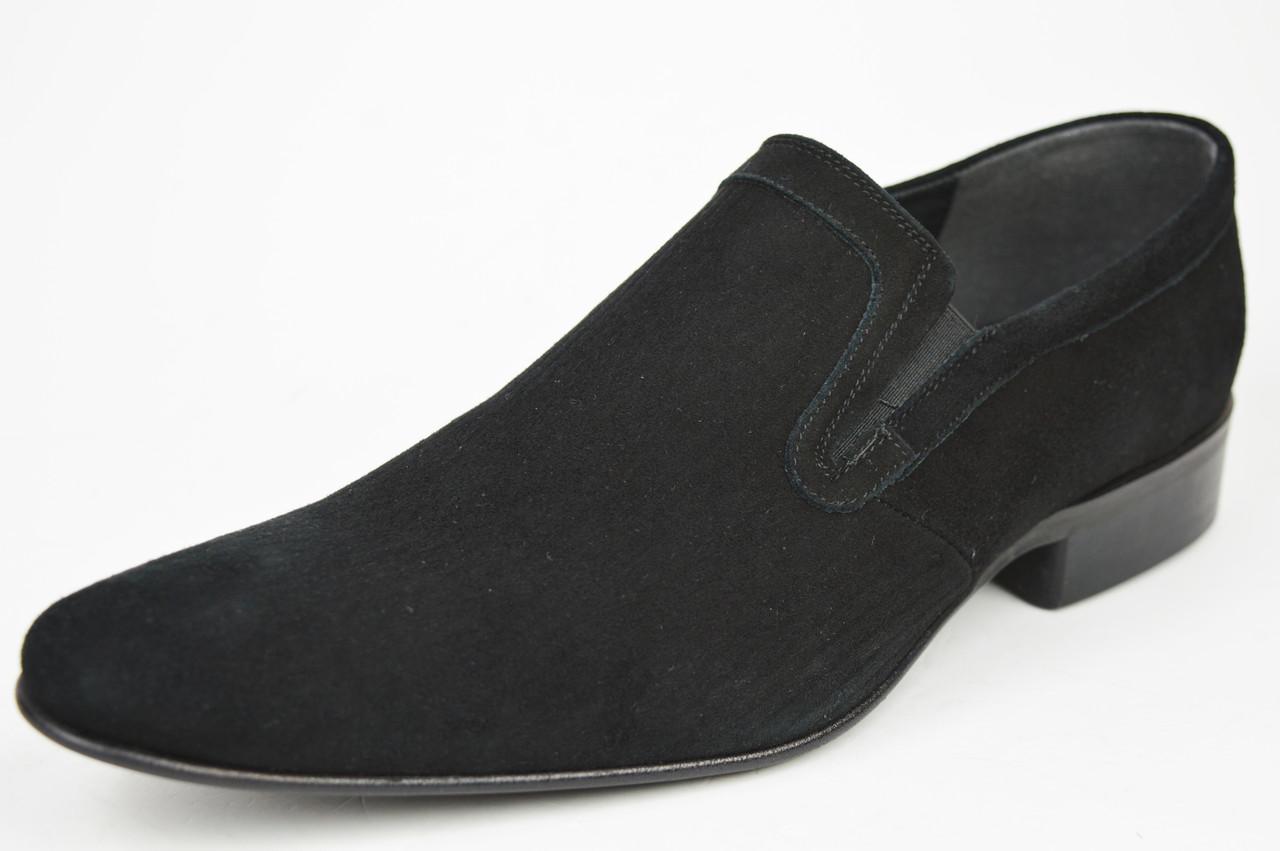 Туфли мужские замшевые Conhpol 2314 черные