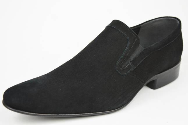 Туфли мужские замшевые Conhpol 2314 черные, фото 2