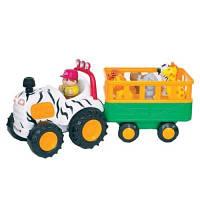 Игровой набор Трактор Сафари на колесах свет на русском языке Kiddieland 051169
