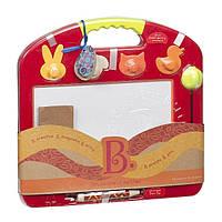 Развивающая магнитная доска для рисования Рафаэль 4 штампа томатная Battat BX1294Z