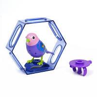 Интерактивная птичка DigiBirds ФИАЛКА с клеткой и свистком 88023-7