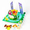 Игровой набор для ванной 3D сцена ЗАМОК ПРИНЦЕССЫ 14 деталей Meadow Kids MK 153