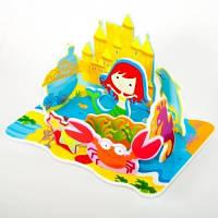 Игровой набор для ванной 3D сцена КОРОЛЕВСТВО РУСАЛОЧКИ 17 деталей Meadow Kids MK 038