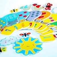 Игровой набор для ванной стикеры ВЕСЕЛЫЙ СЧЁТ 21 деталь Meadow Kids MK 180