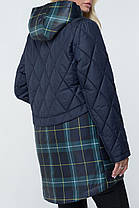 Стильна жіноча демісезонна куртка з капюшоном Розміри 48-64, фото 3