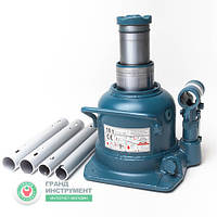 Домкрат бутылочный гидравлический профессиональный низкопрофильный двухштоковый 10т 125-225 мм TORIN TH810002