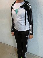 Женский спортивный костюм Adidas черно-белый (90510) код 916А