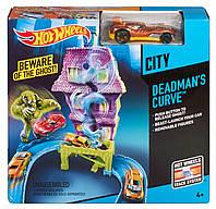 Трек Хот Вилз Дом с привидениями Hot Wheels Deadman's Curve Track Set
