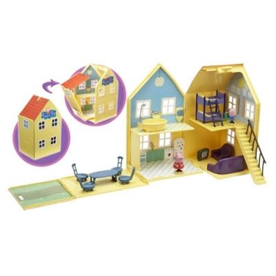 Игровой набор Peppa Загородный дом пеппы домик с мебелью 2 фигурки