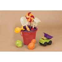 Набор для игры с песком и водой Ведерце манго 9 предметов Battat BX1331Z