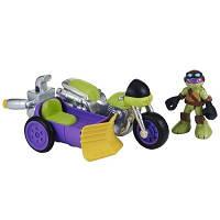 Боевой транспорт с фигуркой серии малыши черепашки-ниндзя - гоночный мотоцикл фигурка Донни  96702 TMNT