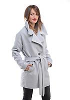 Пальто короткое с поясом