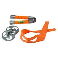 Набор игрушечного оружия серии черепашки-ниндзя - боевое снаряжение Микеланджело 92033 (нунчаки, бандана)