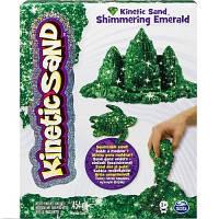 Песок для детского творчества KINETIC SAND METALLIC зеленый 454 г Wacky-Tivities 71408Em