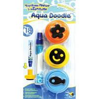 Набор для рисования водой - Волшебный Маркер Aqua Doodle AD2501 (маркер, 3 штампа)
