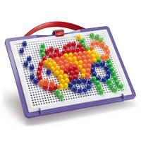 Детская Мозаика 10 мм фишки 140 шт доска 22х16 переносной Quercetti 0922-Q