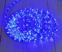 Светодиодная лента, уличная гирлянда дюралайт, LED (синий свет), 8 метров, (доставка по Украине), фото 1
