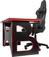 Компьютерный стол со стулом Barsky HG-05/SD-09 Homework Game Red,  ученическая станция, фото 3