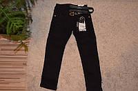 Черные брюки для девочек утепленные флисом 116-146
