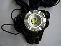 Налобный фонарь на светодиоде CREE XM-L с автомобильным зарядным устройсвом, фото 1
