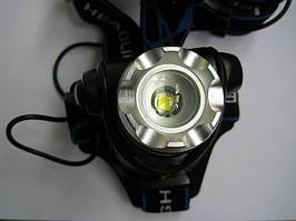 Налобный фонарь на светодиоде CREE XM-L с автомобильным зарядным устройсвом