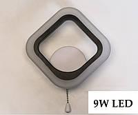 Настенный светильник квадратный LED бра 9W А8060 LED Черный, фото 1
