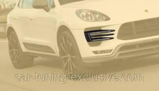MANSORY front bumper spitter add-on PETROL for Porsche Macan