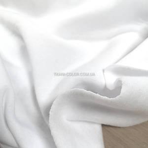 Футер трехнитка с начесом белая