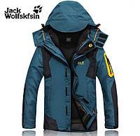 Мужская куртка 2 в 1 JACK WOLFSKIN XL-4XL. Куртки. Верхняя одежда. Мужские модные куртки. Код: КЕ212