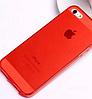 Силиконовый красный чехол для Iphone 5/5S