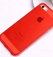 Силиконовый красный чехол для Iphone 5/5S, фото 1